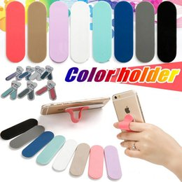 Mobile Phone Finger Handle Holder Flexible Universal Smart Cell Phone Stick Back Holder With Retail Package