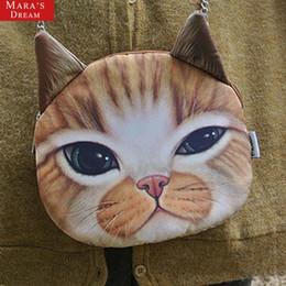 Promotion chaîne grand sac Grossiste-gros 3D chat tête de chat tête imprimé sac à bandoulière sac à main sac à main