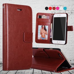 For iphone X 8 Leather Case Cover Retro PU Wallet Card Slot Photo Frame Flip Stand Phone Cover For iPhone 7 6 plus