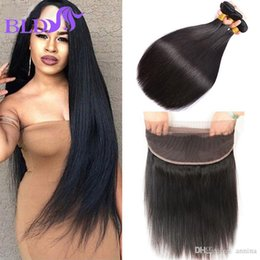 360 Lace Frontal With Bundle Peruvian Straight Virgin Hair With Closure 360 Frontal With Bundles Cheap Pre Plucked Lace Frontal
