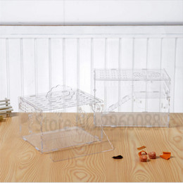 2017 Hot Sales that Free shipping Transparent DIY Hamster cage Easy assembly Cleaning Traveling carries observation cage