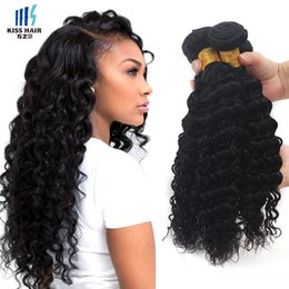24 paquets de cheveux bouclés en Ligne-3 pcs Deep Wave Brazilian Virgin Hair Weave Bundles Grade 7A Deep Curly peru Mongolian Malaysian Indian Hair Extensions