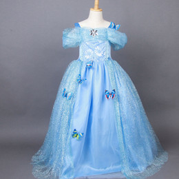 baby cinderella halloween costume Canada - Snowflake Diamond Cinderella Dress Fancy Dress Costumes for Kids Blue & Baby Cinderella Halloween Costume Canada | Best Selling Baby ...
