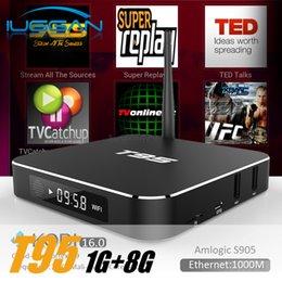 Wholesale T95 Android TV Box Amlogic S905X Quad Core affichage LED G G Kodi16 Dual WIFI GHz Wifi k Streaming Box