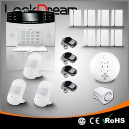 Update Home Wireless Alarm System House GSM Anti Burglar Security Alert Low Consume Power By DHL Free