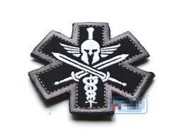 MEDICAL Patches Embroidered 3D Tactical Patch Hook And Loop Badge Combat Cloth Armband 3pcs