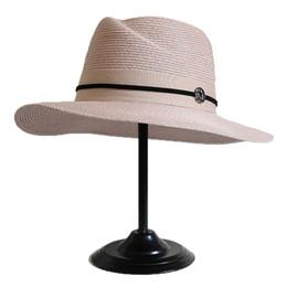Jazz rosa en venta-Sombreros de paja Trilby para mujer Sombreros de Fedora Sombreros de Panamá Sombreros de jazz Sombrero de sol de playa Rosa