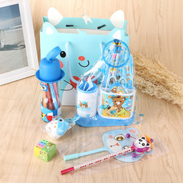 Wholesale 2017 new stationery suits primary school students gift box gift gift bag suit kindergarten prizes pencil gelpen