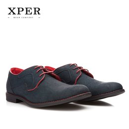 Wholesale Size Brand XPER Casual Men Dress Shoes Lace Up Wear Comfortable Men Wedding Shoes YM86518BL BU