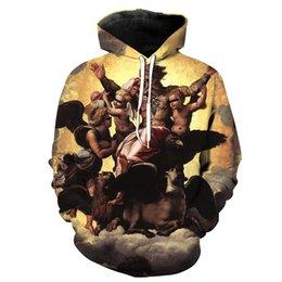 Free Shipping US Size M-5XL High Quality The new custom 3D digital printing angel hooded sweatshirt sweater