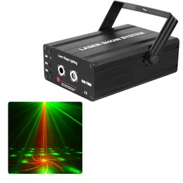 Wholesale 40 Gobos Mini Dj Theatre lights RG Laser Projector Professional Stage Disco DJ Lighting Equipment Home Party