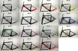 Marcos de carreras en venta-2017 Nuevo 1: 1 modelo Cipollini NK1K carbón carretera marco de la bicicleta matte1K brillante 3K frameset fork seatpost abrazadera Racing Marco de la bicicleta
