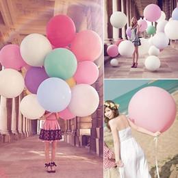 1pcs nuevo coloridos 36 '' pulgadas gigante de látex Globos de cumpleaños de la fiesta de boda Palloncini Decoración hinchable globo de helio de juguetes Z2 giant inflatable balloons promotion desde globos inflables gigantes proveedores