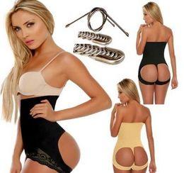 Wholesale Seamless Hot Butt Lift Booster Booty Lifter Panty High Waist Tummy Control Shaper Enhancer Body Shaperwear shapers black beige B4347