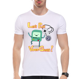 Hommes Vêtements Tees T-shirt modique pour hommes masculins Jouons au jeu vidéo imprimé O-neck à manches courtes Summer Casual Tee pour homme blanc à partir de jeux vidéo bon marché fabricateur