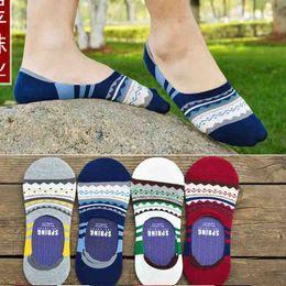 Wholesale New Wave Striped Adult Slippers Socks Man Sock Big Boys Socks Teenager knee socks Sock Fashion Invisible Anti skid socks Cotton Sock A6326