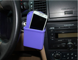Wholesale 1PC silica gel Waterproof car air outlet Hanging phone bag coin wallet pouch Portable storage box Organizer Pouch car styling