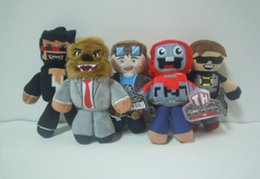 Wholesale TUBE HEROES TDM Plush dolls toys EMS style children cartoon Anime Play Games Movie Dolls Kids Gift Plush dolls CM