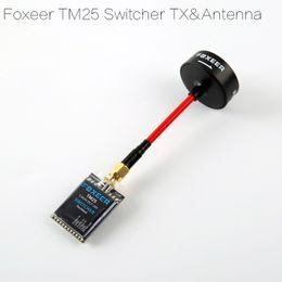 Descuento marcos de carreras Transmisor video al por mayor de la raza de Foxeer 5.8G 40CH TM25 25mW 200mW 600mW Transmisor ajustable de la carrera de FPV para QAV-R Marco de Ture X QAV 214m m