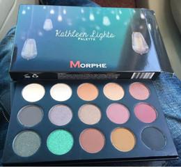 Wholesale 15 Colors MORPHE X Kathleen Lights Eyeshadow Palette Sets Morphe Makeup Eye Shadow Eyes Cosmetic US DHL