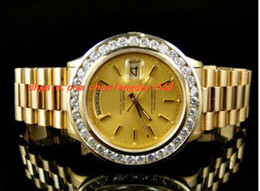 Montre-bracelet de luxe Pre-Owned Mens 41MM Président Day-Date 18k jaune or Diamond Watch Automatique Montres pour hommes Montres de haute qualité pre owned for sale à partir de pré en propriété fournisseurs