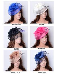 NEW Fashion sinamay fascinator wedding hat with silk flower for Kentucky derby church wedding races carnival