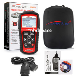 Wholesale Free Car Charger KW808 Vehicle Diagnostic Tool OBD2 OBDII LCD Scantool Auto Truck Diagnostic Scanner Computer Vehicle Fault Code Reader Scan