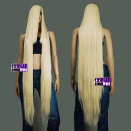 New 150cm 60 inch Hi_Temp Series Black Extra Long Cosplay DNA Wigs