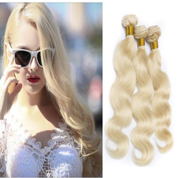 613 Blonde Body Wave Brazilian Virgin Hair Weave Bundles Long Hair Products 100% Human Extensions Remy Hair Weaving 3Pcs Free Shipping