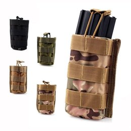 Wholesale Molle Tactical Single Rifle Mag Magazine Pouch Open Top Bag For M4 M16 Magazine Pouch