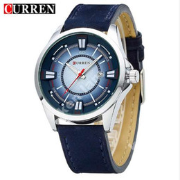 Curren Men's Watch Men Date Clock Men Casual Quartz Watch Leather Wrist Sports Watches Military Army Relogio Male 8155
