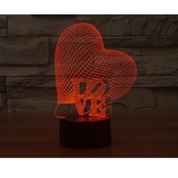 Wholesale Carola Valentine Day Present D LED Love Lights Illusion Lamp Visual Desk Lighting Holiday LED Gift
