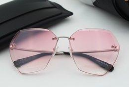 2017 gafas de sol púrpura Regalo agradable de la lente púrpura de los nuevos de la manera del procelain favorable favorable sin marco favorable favorable para los amantes de la playa del partido económico gafas de sol púrpura