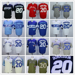 2016 Majestic Wolesale Josh Donaldson #20 Toronto Blue Jays Black White Gray Blue Red Green Baseball Jerseys For Sale free shipping