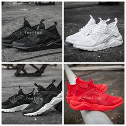 Wholesale 2016 New Design Air Huarache All Red Mesh Huraches Sneakers Ultra Breathe Men And Women Huaraches Running Shoes Size