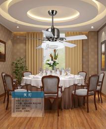 Modern living room bedroom fan ceiling light remote control mute restaurant fan lights ceiling Fan frequency converter