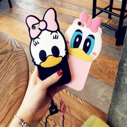 Wholesale 3D Cute Cartoon Animal Design Brown Teedy Bea Donald Duckr Soft Silicone Case for Iphone S S Plus