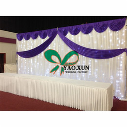 Good Looking Wedding Backdrop Curtain With Led Light \ Stage Background