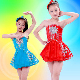 Wholesale Stage Dresses Sale - wholesale Hot sale Children 's princess dress performance clothing sequins children' s dance dress children stage clothing