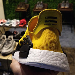 Wholesale Pharrell NMD Human Race sale Find the best deals of NMD Runner shoes Black colorways of the quot Human Special quot design With Box