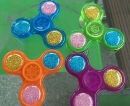 finest glitter fidget tri hand spinner dedo del escritorio del juego nios diversin toy boy girl