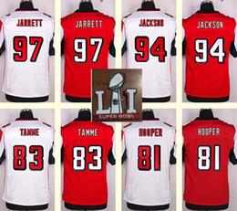 Wholesale 2017 Super Bowl Atlanta Men s Jarrett Tyson Jackson Jacob Tamme Austin Hooper Red White Top Quality Elite jerseys
