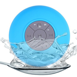 Wholesale Portable Waterproof Wireless Bluetooth Speaker Shower Car Handsfree Receive Call & Music Suction Phone Mic with DHL