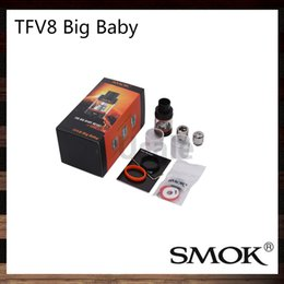 Wholesale Smok TFV8 Big Baby Tank ml Top Refill TFV8 Big Baby Cloud Beast Atomizer Re designed Bottom Pair air slots Original