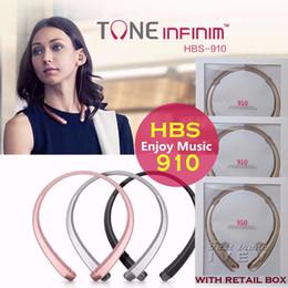 Promotion mains libres universel 2017 Nouveau HBS-910 HBS 910 CSR 4.0 Tone Infinim Écouteurs sans fil Bluetooth Écouteurs de sport Écouteurs mains libres HBS910 pour iphone7 7 Plus LG