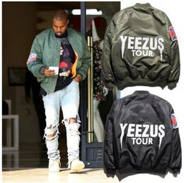 KANYE WEST Yeezus tour jackets for men women thin ma1 bomber jacket jaqueta masculina softshell pilot flight jacket