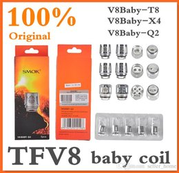 Authentic Smok TFV8 BABY Beast Tank Coils Head V8 Baby-T8 0.15ohm T6 0.2ohm X4 0.15ohm Q2 0.4ohm Authentic