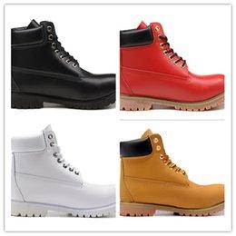 Acheter en ligne Les brunes-36-46,1: 1 qualité, bois Hauts bottes en cuir d'hiver en hiver toutes blanches toutes noires brun Blé jaune toutes les couleurs rouges
