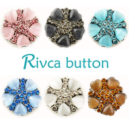 D01959 Rivca Snaps Button Jewelry Hot wholesale High quality Mix styles 18mm Metal Ginger Snap Button Charm Rhinestone Styles NOOSA chunk