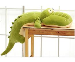 Lovely crocodile animaux en peluche cousu oreiller peluche peluche peluche peluche jouets en peluche 5 Tailles Couleur vert à partir de étreindre jouets en peluche fournisseurs